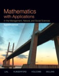 Mathematics with Applications In the Management  Natural and Social Sciences (11th Edition)