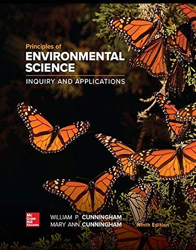 PRINCIPLES OF ENVIRON.SCIENCE - 9th Edition - by Cunningham - ISBN 9781260219715
