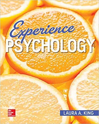 EXPERIENCE PSYCHOLOGY - 4th Edition - by King - ISBN 9781260397109